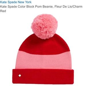 Kate spade Pink and red beanie